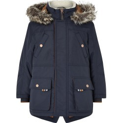 Boys Navy Parka Coat Blue found on MODAPINS from Monsoon for USD $58.70