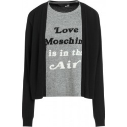 Love Moschino Tromp L'oeil Stockinette Stitch Sweater Woman Black Size 38 It - (4 Us)