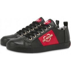 Love Moschino Sneakers With Heart And Logo Woman Black Size 41 It - (11 Us)
