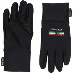 Moschino Nylon Gloves With Italian Logo Man Black Size Single Size found on Bargain Bro India from Moschino for $147.50