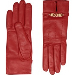 Moschino Leather Gloves With Mini Lettering Logo Woman Red Size 7.0 found on Bargain Bro India from Moschino for $360.00