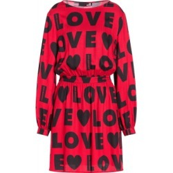 Love Moschino Dress With All Over Logo Woman Red Size 38 It - (4 Us)