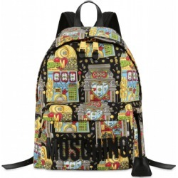 Moschino Slot Machine All Over Big Backpack Woman Multicoloured Size U It - (one Size Us)