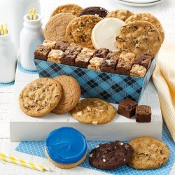 Mrs. Fields Plaid Combo Crate - 12 Cookie Sampler, 18 Brownie Bites & More! found on Bargain Bro India from mrs. fields for $39.99