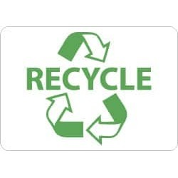 NMC 10x14 Plastic Sign Go Green Recycle W/graph ENV26RB