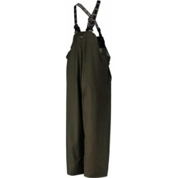 OnGuard Size S, Green, Zipper Front Bib Overalls PVC on Nylon and