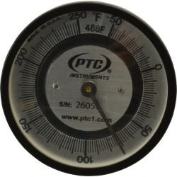 PTC Instruments -50 to 250 Degrees F, 2 Inch Dial Diameter, Pipe