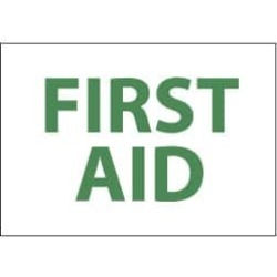 NMC 7x10 Rigid Plastic First Aid Sign M249R