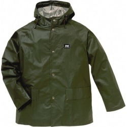 Helly Hansen Size Small, Army Green Rain Jacket with 2 Pockets 34 found on MODAPINS from mscdirect.com for USD $70.21