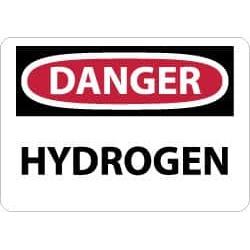 NMC 10x14 Rigid Plastic Danger Hydrogen Sign D447RB