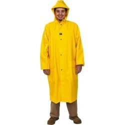 Helly Hansen Size Small, Light Yellow Rain Coat with 2 Pockets 34 found on MODAPINS from mscdirect.com for USD $91.09