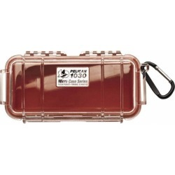"Pelican Products, Inc. 3-7/8x7-1/2"" Clr/red Watertight Clear Case"