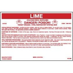 """NMC 6-1/2x10"""" Lime Container Label HC268P"""
