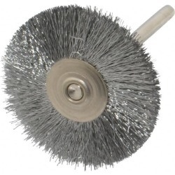 Weiler 1-1/4 Inch Brush Diameter, Crimped Steel Wheel Brush 37,00