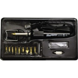 Mag-Torch Electric Wood Burning Kit Includes Soldering Tip; Plast
