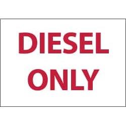 NMC Diesel Only 5/pk 3x5 Vinyl Label M764AP