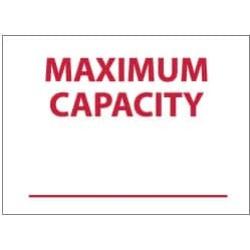 NMC 10x14 Rigid Plastic Maximum Capacity Sign M355RB