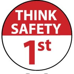 NMC Think Safety 25/pk 2x2 Hard Hat Emblem HH89