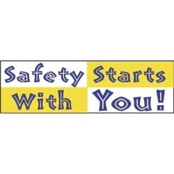 NMC Safety Starts with You!, 120 Inch Long x 36 Inch High, Safety