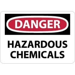 NMC 10x14 Ps Vinyl Danger Haz Chemicals Sign D441PB