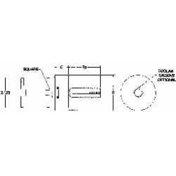 Parlec 1-1/2 Pipe Inch Tap, Series Numertap 770, Through Coolant,
