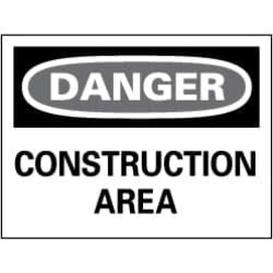 "NMC 20""x28"" Rigid Plastic Dangr Constrctn Area Sign D132RD"