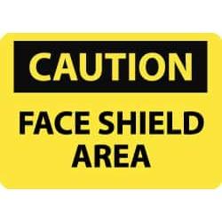 NMC 10x14 Rigid Plastic Face Shield Area Sign C377RB