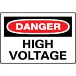 "NMC 20""x28"" Rigid Plastic Danger High Voltage Sign D49RD"