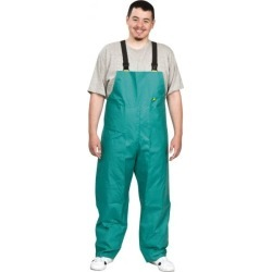 OnGuard Size L, Green, Zipper Front Bib Overalls PVC on Nylon and