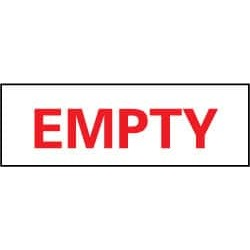 "NMC 4""x12"" Rigid Plastic Empty Sign M55R"