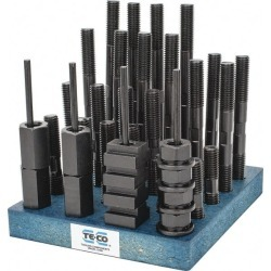 TE-CO 38 Piece, 5/8-11 Stud, 11/16 Inch T Slot, T Nut and Stud Ki