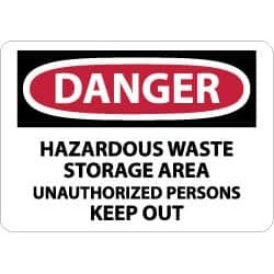 NMC 10x14 Rigid Plastic Dngr Haz Waste Kpout Sign D442RB found on Bargain Bro from mscdirect.com for USD $10.42