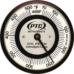 PTC Instruments 70 to 500 Degrees F, 2 Inch Dial Diameter, Pipe S