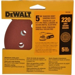 DeWALT 220 Grit Hook and Loop Disc 5/8 Inch Hole, Coated, for Use found on Bargain Bro Philippines from mscdirect.com for $4.88