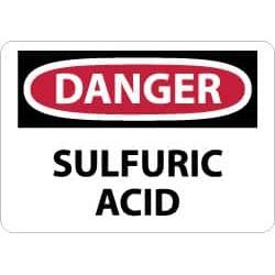 NMC 10x14 Rigid Plastic Dnger Sulfuric Acid Sign D85RB