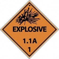 NMC Explosive 1.1a 25/pk Dot Shipping Label DL88AP