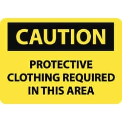 NMC Caution - Protective Clothing Required in This Area, 14 Inch