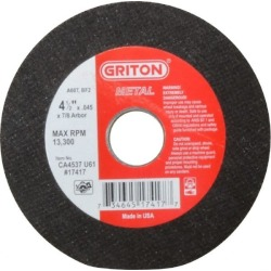Made in USA 4-1/2 Inch Diameter, 60 Grit, Aluminum Oxide, Reinfor found on Bargain Bro Philippines from mscdirect.com for $4.34