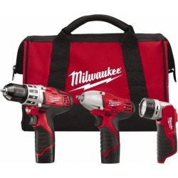 Milwaukee Tool 3 Piece, Cordless Tool Combination Kit Lithium-Ion