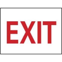 NMC 10x14 Aluminum Exit Sign M24AB