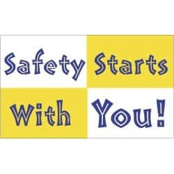 NMC Safety Starts with You!, 60 Inch Long x 36 Inch High, Safety