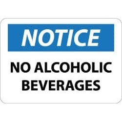 NMC Notice - No Alcoholic Beverages, 14 Inch Wide x 10 Inch High,