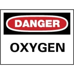 NMC 7x10 Rigid Plastic Danger Oxygen Sign D98R