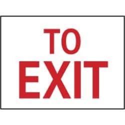 NMC 10x14 Rigid Plastic To Exit Sign M71RB