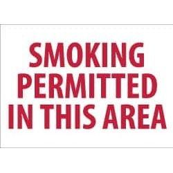 NMC 10x14 Rigid Plastic Smoking Permitted Sign M243RB