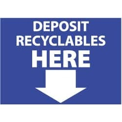NMC 10x14 Plastic Sign Go Green Depsit Recyclble ENV32RB