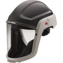 3M PAPR Compatible Hard Hat with Face Shield Polyester, Compatibl