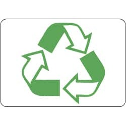 NMC 10x14 Plastic Sign Go Green Recycle Graphic ENV29RB