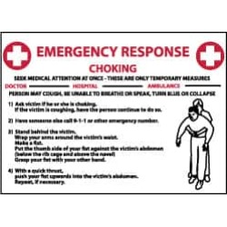 NMC 10x14 Rigid Plastic Chock Emer Response Sign M458RB found on Bargain Bro India from mscdirect.com for $13.71