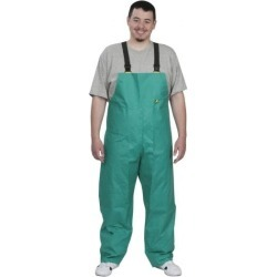 OnGuard Size M, Green, Zipper Front Bib Overalls PVC on Nylon and